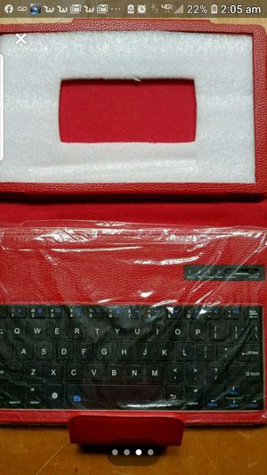 Red leather bound keyboard for Sale in Newburgh, IN