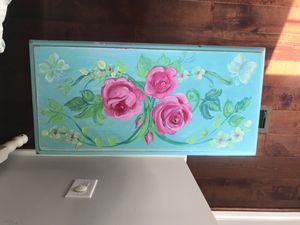 Bedside table hand painted! for Sale in Wheaton, MD