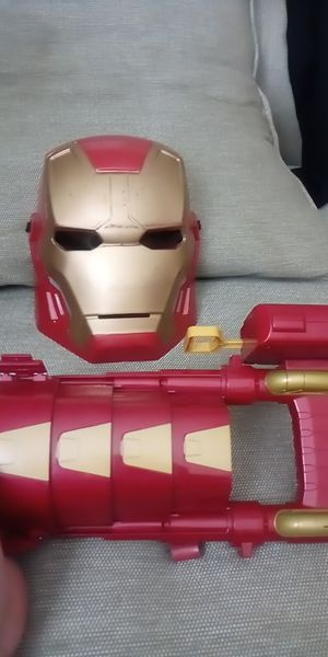 Ironman mask and nerf bullet arm gun..lots of car toys for Sale in Houston, TX