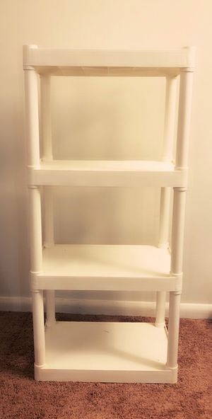 Shelves White-Like New- Plastic-4 tiers for Utility/storage for Sale in Winston-Salem, NC