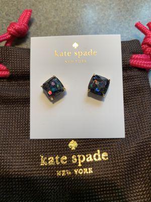Kate Spade black glitter earrings for Sale in University Place, WA