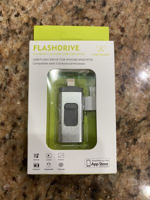 USB Flash Drive 128GB for iPhone Photo Stick USB 3.0 Thumb Drive Memory Stick External Drive 3 in1 USB Stick for iPhone iPad iOS MacBook Android and for Sale in Winter Garden, FL