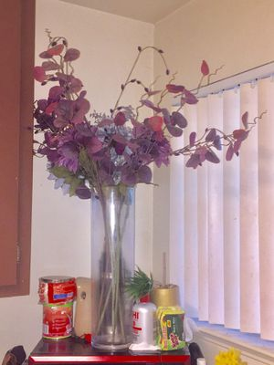 Artificial Flowers with Tall Vase for Sale in San Leandro, CA