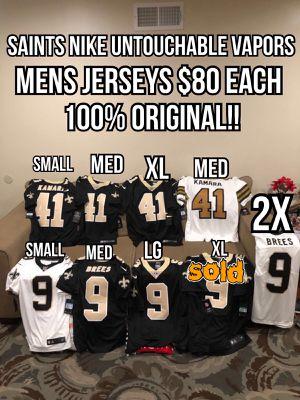 NFL Nike Untouchable Vapor New Orleans Saints #9 drew Brees and #41 Alvin Kamara white and black men's jerseys for Sale in La Puente, CA