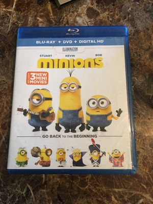 Minions Blue Ray +DVD +Digital for Sale in Fresno, CA