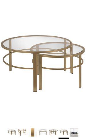 Brand New Nesting Table - Gold Finish for Sale in Sunrise, FL