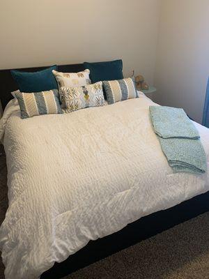 IKEA Queen Bedframe, mattress and box spring for Sale in Draper, UT