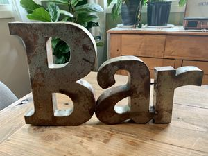 """Galvanized Metal Word """"Bar"""" for Sale in Charlotte, NC"""