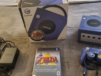 Gamecube with Original Box and RARE Zelda Promo Game for Sale in Arlington,  WA