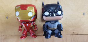 Iron man and Batman swivel head characters for Sale in Cheyenne, WY