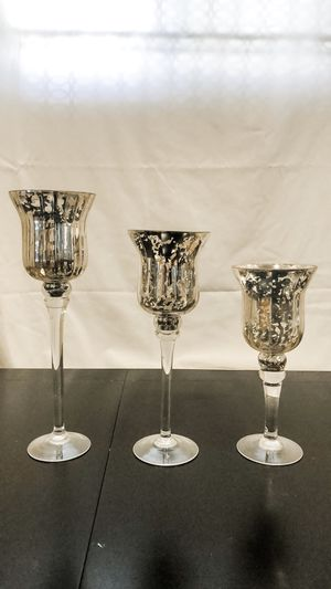 Silver mercury glass candlesticks for Sale in Fremont, CA