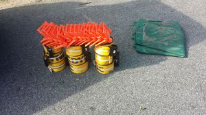 Trailer winch strap, plastic corner/edge protector and flatbed Tarpaulins for sale for Sale in Laurel, MD