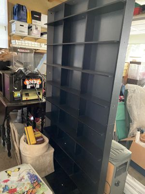 Black DVD/CD rack - holds over 150 plus for Sale in Midlothian, VA