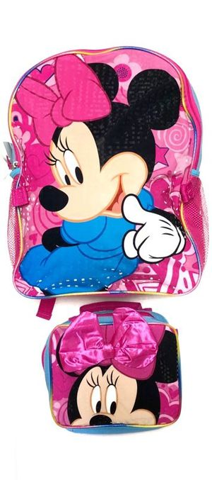 Brand NEW! Minnie Mouse Backpack With Detachable Lunch Bag For School/Traveling/Everyday Use/Gifts $16 for Sale in Carson, CA