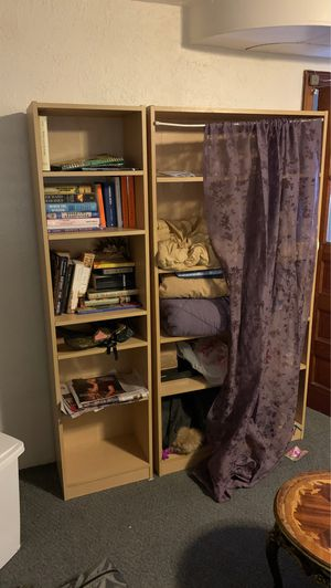Two Piece Beige Shelving for Sale in Washington, DC