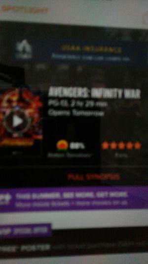 3 tickets to Avengers infinity war 7:00 Orange park for Sale in Jacksonville, FL