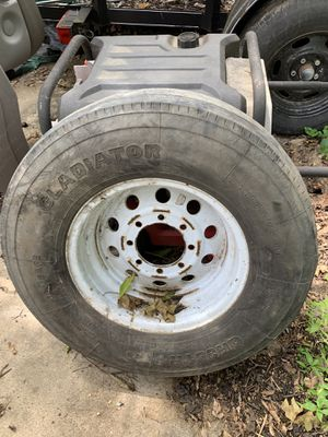 8 lug trailer wheels, good to bad tires, 50 for all for Sale in Clayton, MO