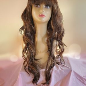 Brown With Honey Highlights 24 Inch Wig for Sale in Midland, TX