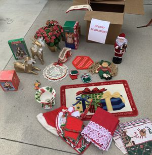 Christmas decorations, linen, table clothes - All different prices. for Sale in Burbank, CA