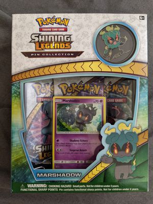 Pokemon TCG Marshadow Pin Collection Tin Collectible Cards Game Box for Sale in San Diego, CA