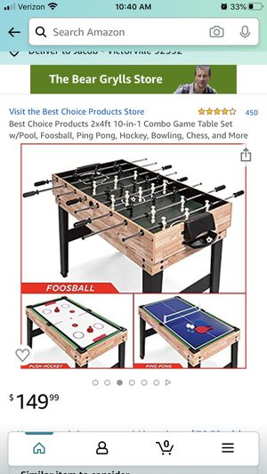 10-1 game table set for Sale in Victorville, CA