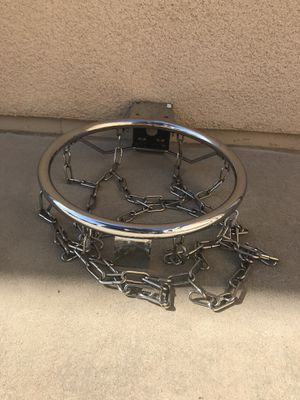 Aluminum basketball hoop and chain for Sale in San Diego, CA