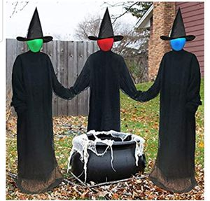 ILLUMINATING HALLOWEEN WITCHES FOR THE YARD LIFE SIZED DECORATIONS for Sale in Bowie, MD