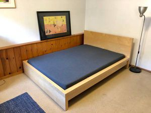 Ikea Malm QUEEN Sz Size Bed Frame Bedframe (Mattress EXTRA $100) for Sale in Monterey Park, CA