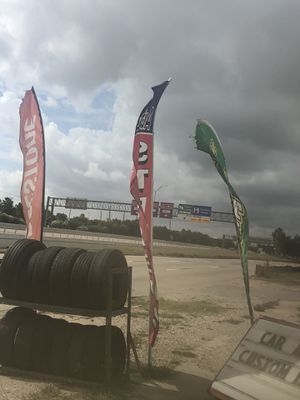 Tire shop flags and poles for Sale in Houston, TX