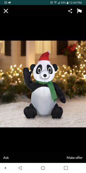 Panda Christmas inflatable decoration outdoor new 3.5 ft for Sale in Fullerton, CA