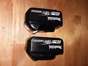 Makita 5.0 Ah y 3.0 Ah baterias for Sale in Hyattsville, MD