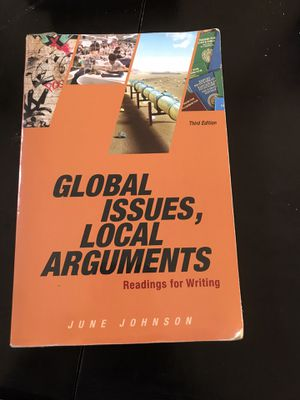 Global issues local arguements 3rd edition for Sale in Hercules, CA