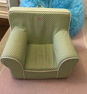 Like New Regular Size Green & White Pottery Barn Kids Anywhere Chair for Sale in Los Angeles, CA