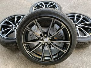 Like New Toyota Black Rims and Bridgestone with 100% Tread! 5 lug Wheels will fit Corolla , Avalon , and many others Take offs off 18s takeoffs pull for Sale in Dallas, TX