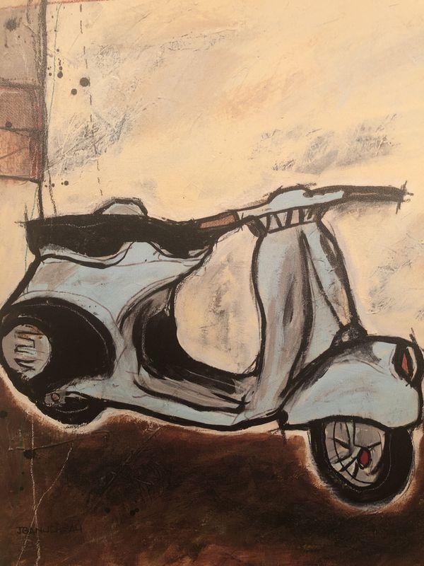 Vespa wall art/painting print on canvas