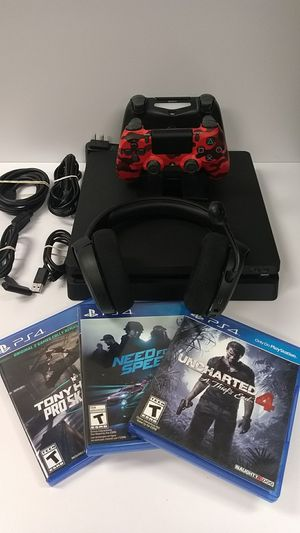 PlayStation 4 (PS4) Slim 1TB Console Black Bundle for Sale in Las Vegas, NV
