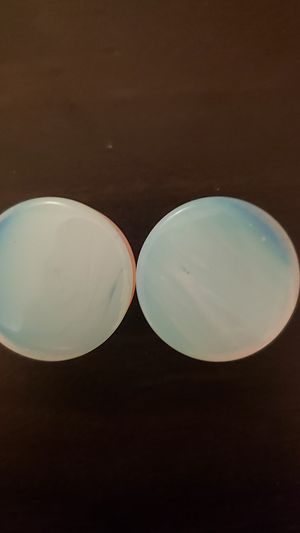 1 inch (25mm) moonstone plugs (new) for Sale in Hayward, CA