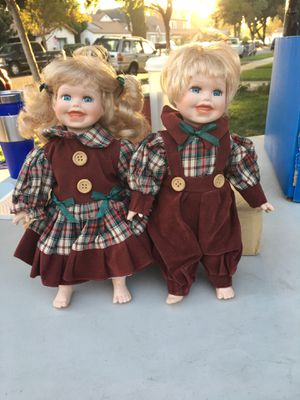 Twin Ceramic Dolls for Sale in San Bernardino, CA