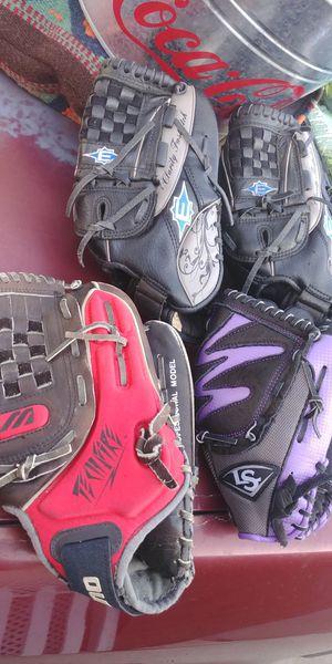 Baseball softball gloves Easton Louisville Slugger Mizuno for Sale in San Diego, CA