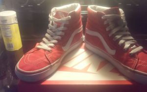 Off the wall red white hightops size 9 for Sale in Indianapolis, IN