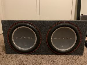 Punch speakers and amplifier for Sale in Modesto, CA