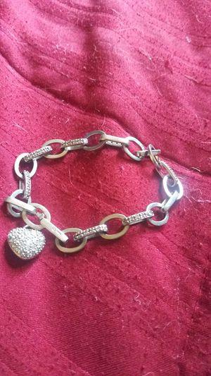 Tiffany like 14k diamond bracelet with full diamond heart charm for Sale in Phoenix, AZ
