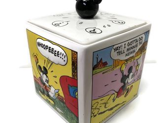 Mickey Mouse Comic Strip Cookie Jar / Canister by Gibson Disney for Sale in Newcastle,  WA