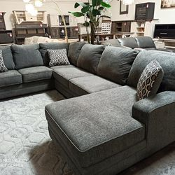 NEW, EXTRA LARGE, RAF CHAISE SECTIONAL, SLATE, SKU#TC72600 for Sale in Santa Ana,  CA