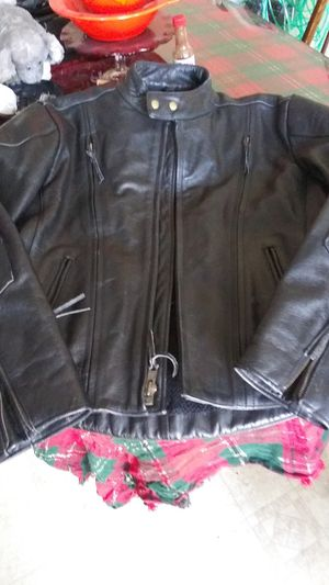 Himalaya motorbike black leather jacket size large 42 for Sale in Johnston, RI