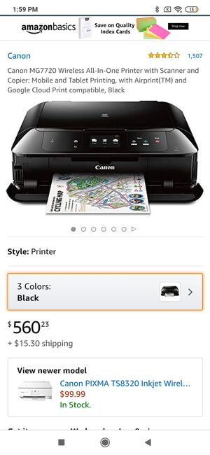 Cannon mg7720 printer for Sale in Rehoboth Beach, DE