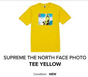 Supreme North Face Photo Tee Yellow for Sale in Apollo Beach, FL