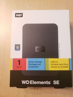 WD ELEMENTS SE 1 TB OBO for Sale in Fort Lauderdale, FL