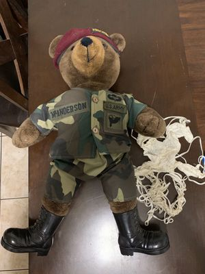 US Army Airborne Bear Forces of America Plush 22 Inch Bear for Sale in Miami, FL