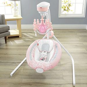 Baby swing fisher price pearl chandelier for Sale in Hialeah, FL